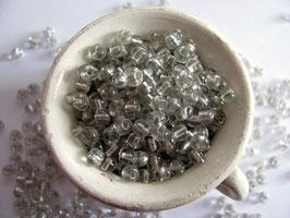 Rocailles kristall Silbereinzug
