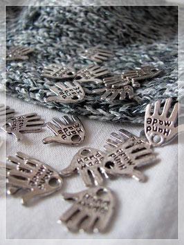 Anhänger Hand Fb. antik-silber