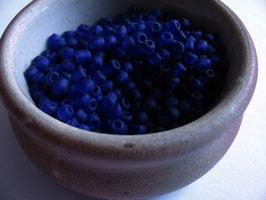 Rocailles dunkelblau transparent matt