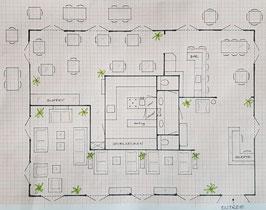 Hoofdgebouw vakantieresort 330 m2, Curacao