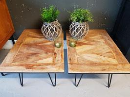 Tafels #16 - set van 2 salontafels 75 x 53 cm industrieel