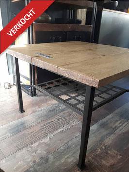 VERKOCHT - Tafel#03 metaal-steigerhout
