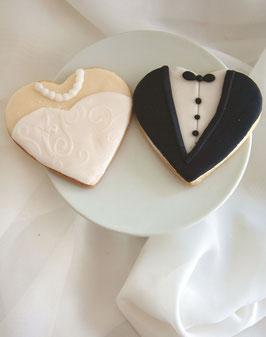 Cookies als Braut und Bräutigam