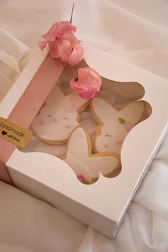 Osterhasencookies in einer Box - Das Ostergeschenk - Limited Edition
