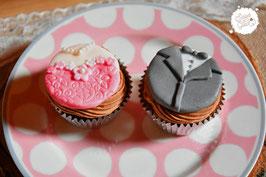 Brautpaar als Cupcakes