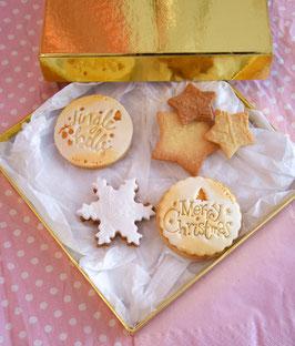 Gold Edition - Effektvolle Weihnachtscookiebox - Ausverkauft - ab Dezember 2021 wieder erhältlich
