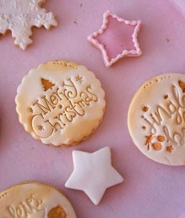 Merry Christmas Cookie mit Tannenbaum