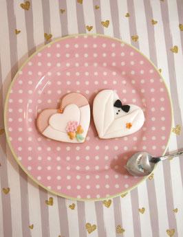 Braut und Bräutigam - Cookies in weiss