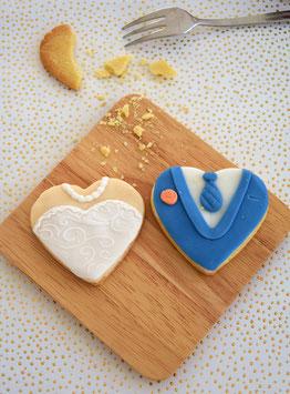 Braut und Bräutigam-Cookie