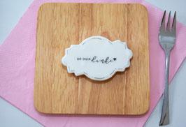 """Cookie """"wir sagen danke"""" im Etikettenformat"""