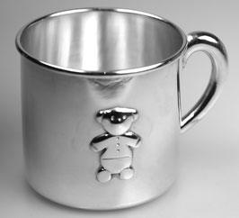 """Noch nicht verfügbar """"Ein"""" Henkelbecher mit Bärchen, 925/- Sterling Silber"""