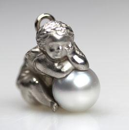 """Fuggerengel"", Nr. 1, groß,   925/- Sterling Silber Süßwasserperle"