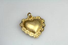 """""""Friedberger Trachten - Herz"""" aus dem Friedberger Museum, 925/- Sterling Silber, Gold Plattiert"""