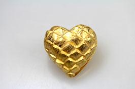 """""""Augsburger Herz"""", mittel, 925/- Sterling Silber, Gold plattiert"""