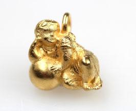 """Noch nicht verfügbar """"Fuggerengel"""", Nr. 3, klein, 925/- Sterling Silber, Gold plattiert"""