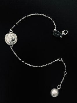 """MünzSüdseeperle-Armband"", 925/-Sterling Silber"