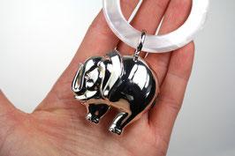 Noch nicht verfügbar Elefantenrassel an Perlmuttring, 925/- Sterling Silber
