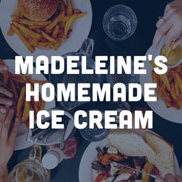 Madeleine's homemade Ice Cream