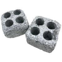 2 Dampfsteine mit 4 Bohrungen für Saunaaufguss und Mentholkristalle
