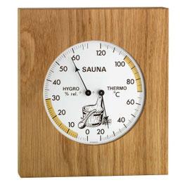Thermo-Hygrometer mit Eichenrahmen