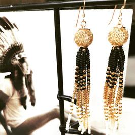 Dangling BoHo Chic Gold Earrings