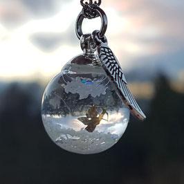 Bastelset-Schneekugel (3 Glasperlen mit Deckel)