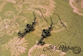 Boucles d'oreilles clés fines 2