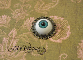 Broche oeil bleu