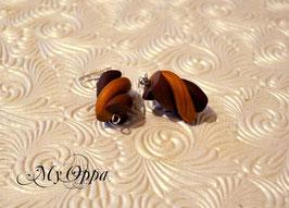 Boucles d'oreilles guimauve choco