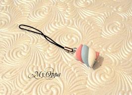 guimauve bleu/rose/blanc pour téléphone