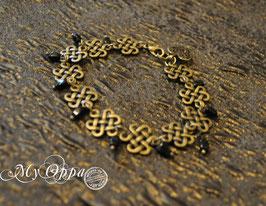 Bracelet celtique perles noires