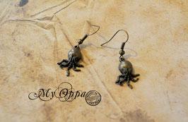 Boucles d'oreilles poulpes