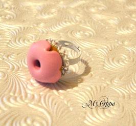 Bague donut rose