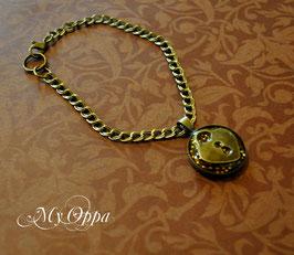 Bracelet Steampunk résine pendentif