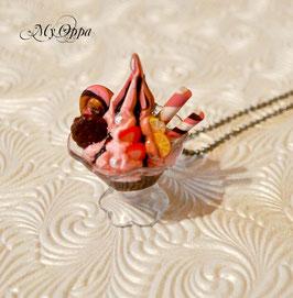 Sautoir coupe Glace 8 chantilly fraise