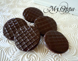 Broche biscuit choco