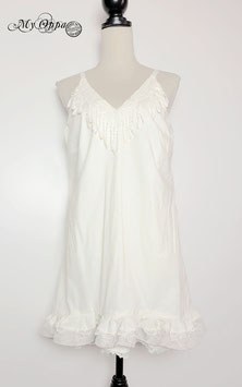 Robe tunique blanc cassé (vendue sans la jupe et l'écharpe )