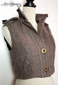 Gilet en laine steampunk 2 boutons Taille L
