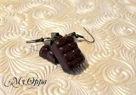 Boucles d'oreilles chocolat noir