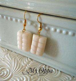 Boucles d'oreilles chocolat blanc