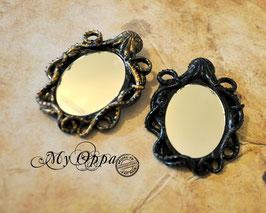 Broche octopus miroir