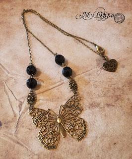 Collier papillon paradis
