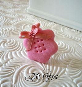 Bague biscuit rose