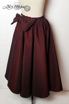 Jupe Polka rouge et noire longue