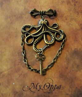 Broche octopus laiton