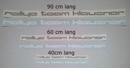 "Aufkleber ""Rallye Team Klausner"""