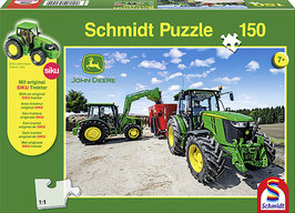 John Deere Traktoren der 5m Serie (Puzzle + Siku Traktor)