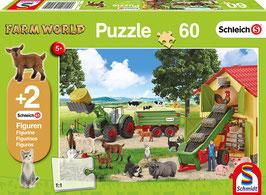 Heueinfahrt auf dem Bauernhof - Puzzle 60 Teile