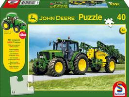 John Deere 6630 mit Feldspritze 40teilig - Puzzle