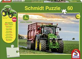 John-Deere 8370R (Puzzle + Siku Traktor),